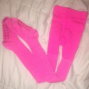 CHILDREN'S PLACE Hot Pink Sparkle Winter Tights